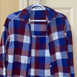Old Navy red white & blue flannel